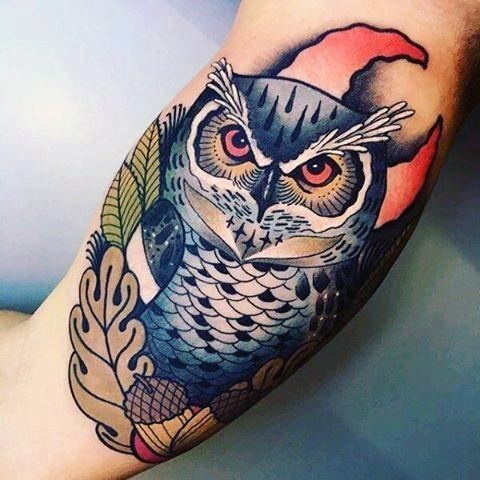 4a0a4034d08ce 40 Neo Traditional Owl Tattoo Ideas For Men - Bird Designs 40 Neo  Traditional Owl Tattoo