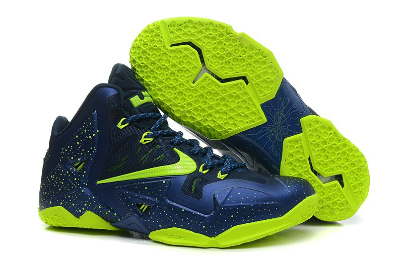 cheap lebron 11 navy blue neon green hot sale on www.cheapestlebrons.com