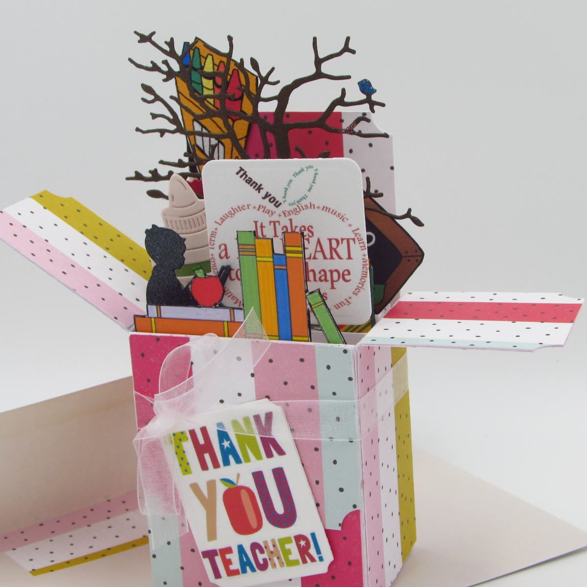 Thank You Teacher Explosion Box Card Unique Handmade Card In Box