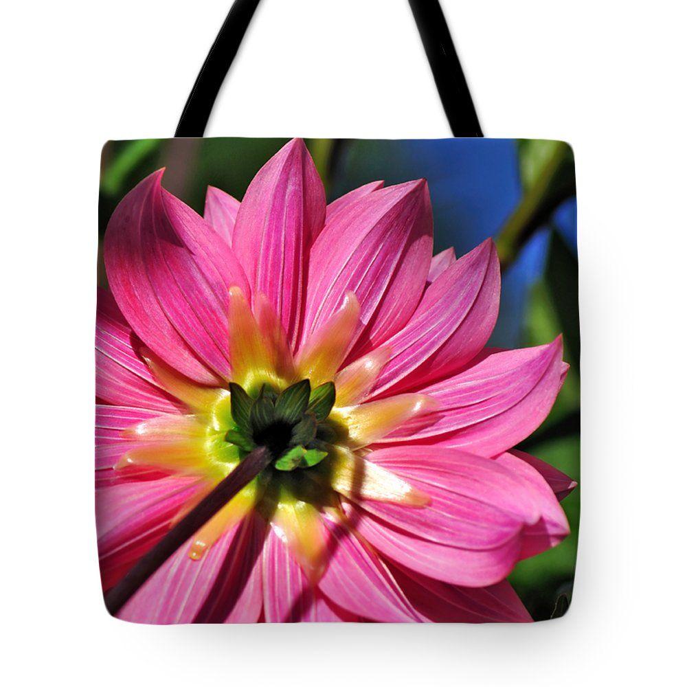"Textures and Beauty of Pink Dahlia Petals Tote Bag 18"" x 18"""
