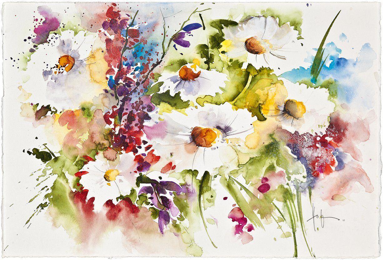 Mein Atelier Grundkurs Aquarell Blumen Und Bluten Amazon De