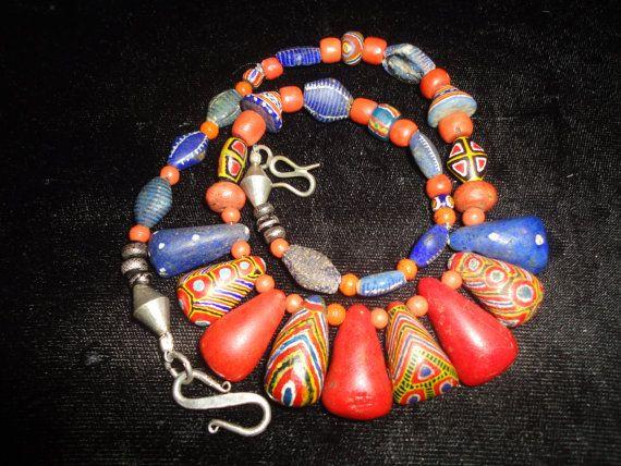 Antique Rare Kiffa Beads Handmade Glass Beads African Trade Beads Beads