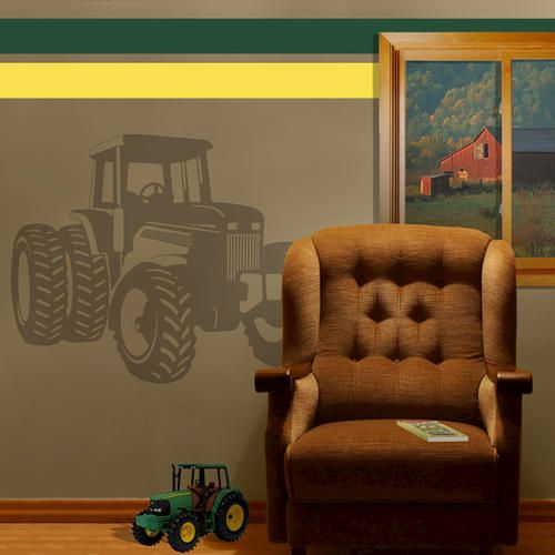 Explore kids room murals kids rooms and more sudden shadows tractor giant wall decal at menards