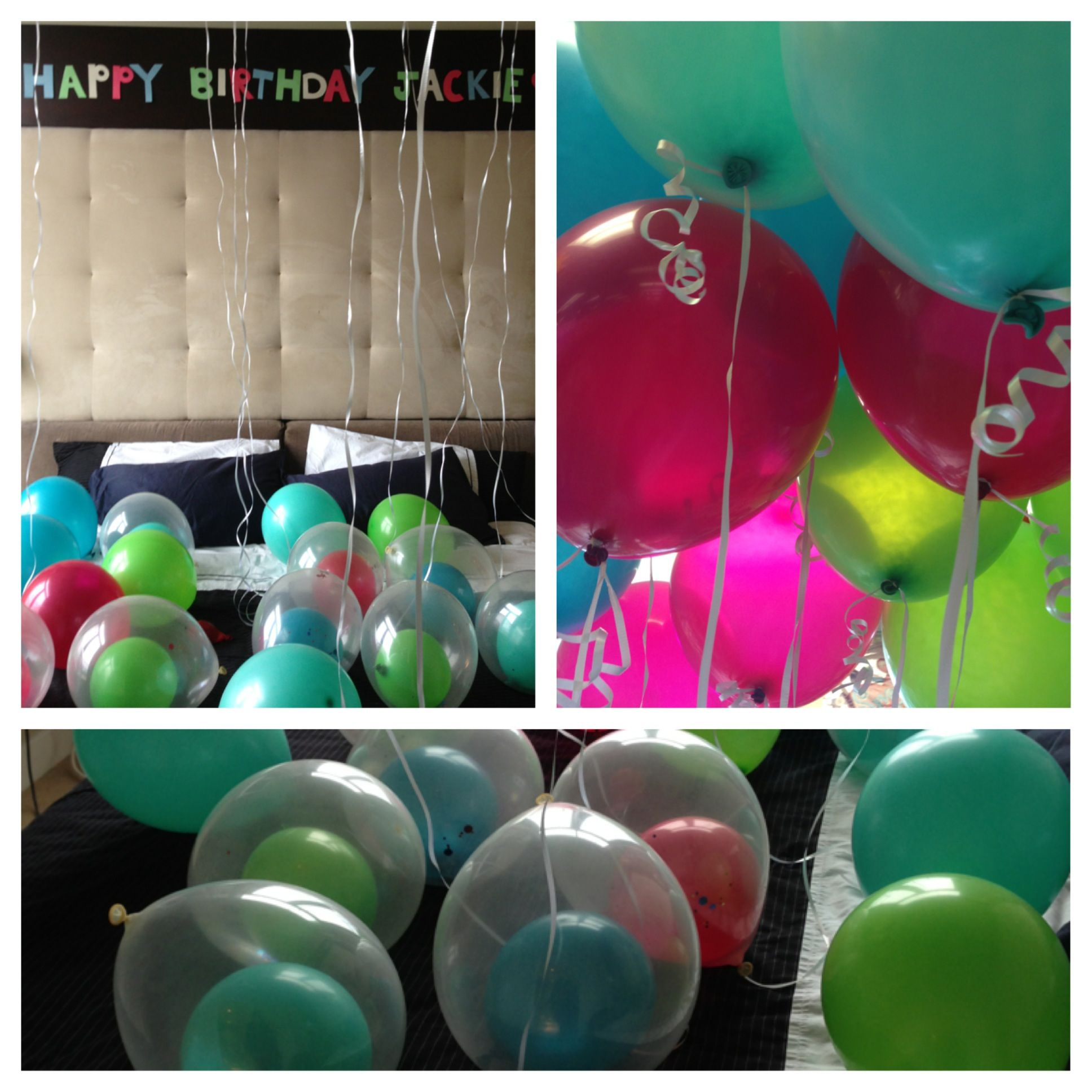 Had This As A Surprise For My Boyfriend When He Got Home 19 Helium Balloons For His 19th