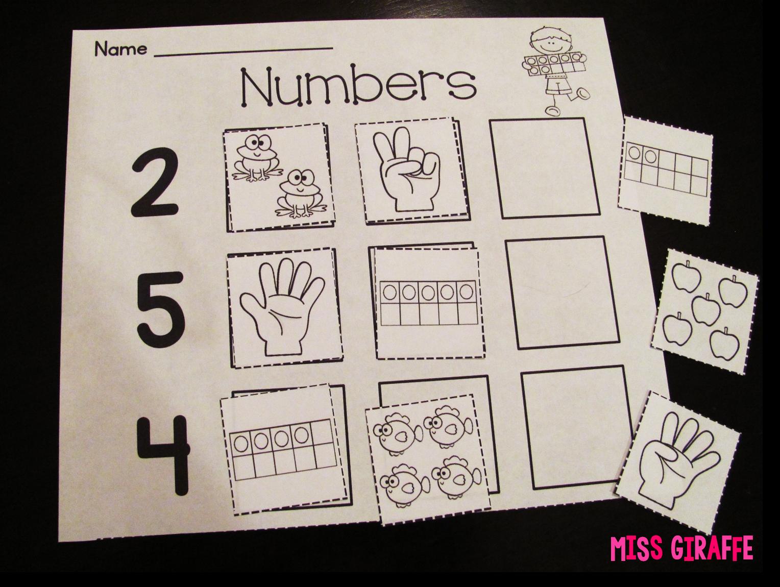 Miss Giraffe S Class Building Number Sense In First Grade