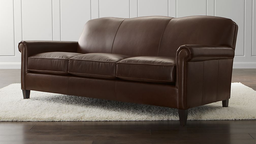 Peachy Mcallister Leather Sofa Crate And Barrel Sofa Leather Gmtry Best Dining Table And Chair Ideas Images Gmtryco