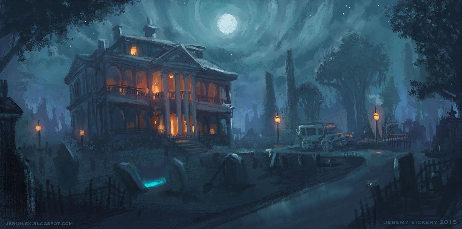 Fantasy Mansion Concept Art