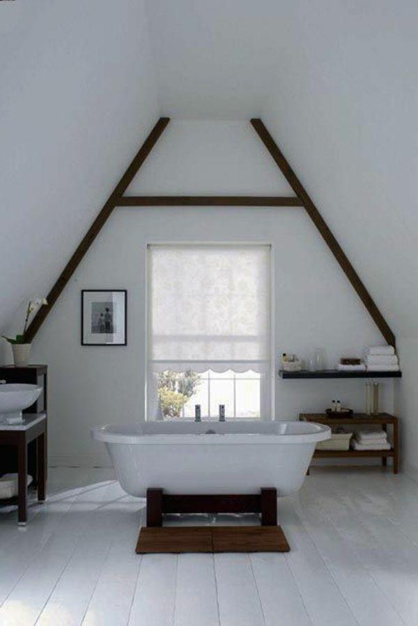 Une salle de bain sous pente ou sous combles en 52 photos! Laundry