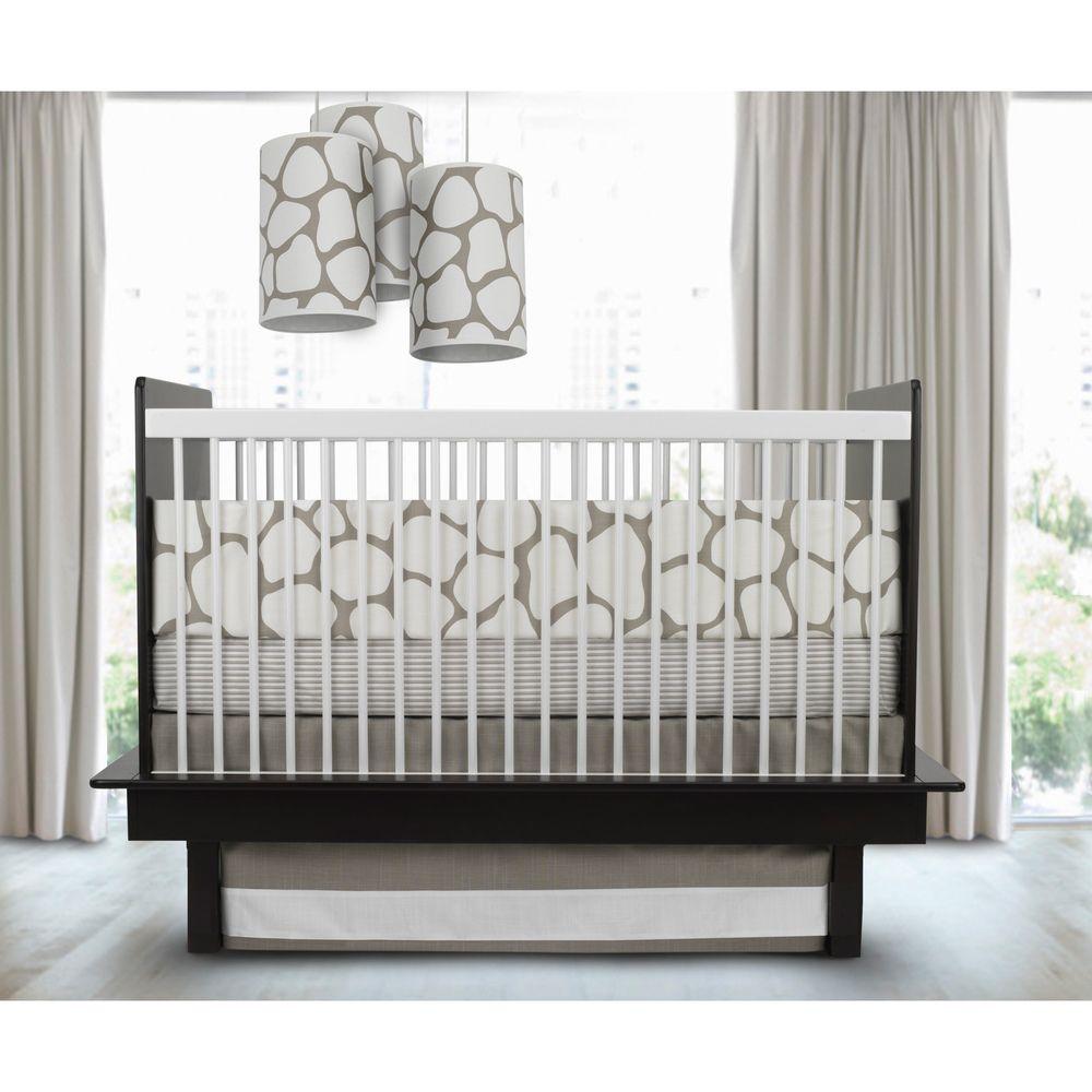 oilo cobblestone taupe piece crib bedding set by oilo  taupe  - oilo cobblestone taupe piece crib bedding set by oilo