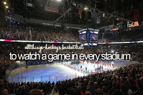 Hockey Bucket List Watch A Game In Every Nhl Arena And Probably A Few Ahl Arenas Too Hockey Hockey Season Carnival Ships