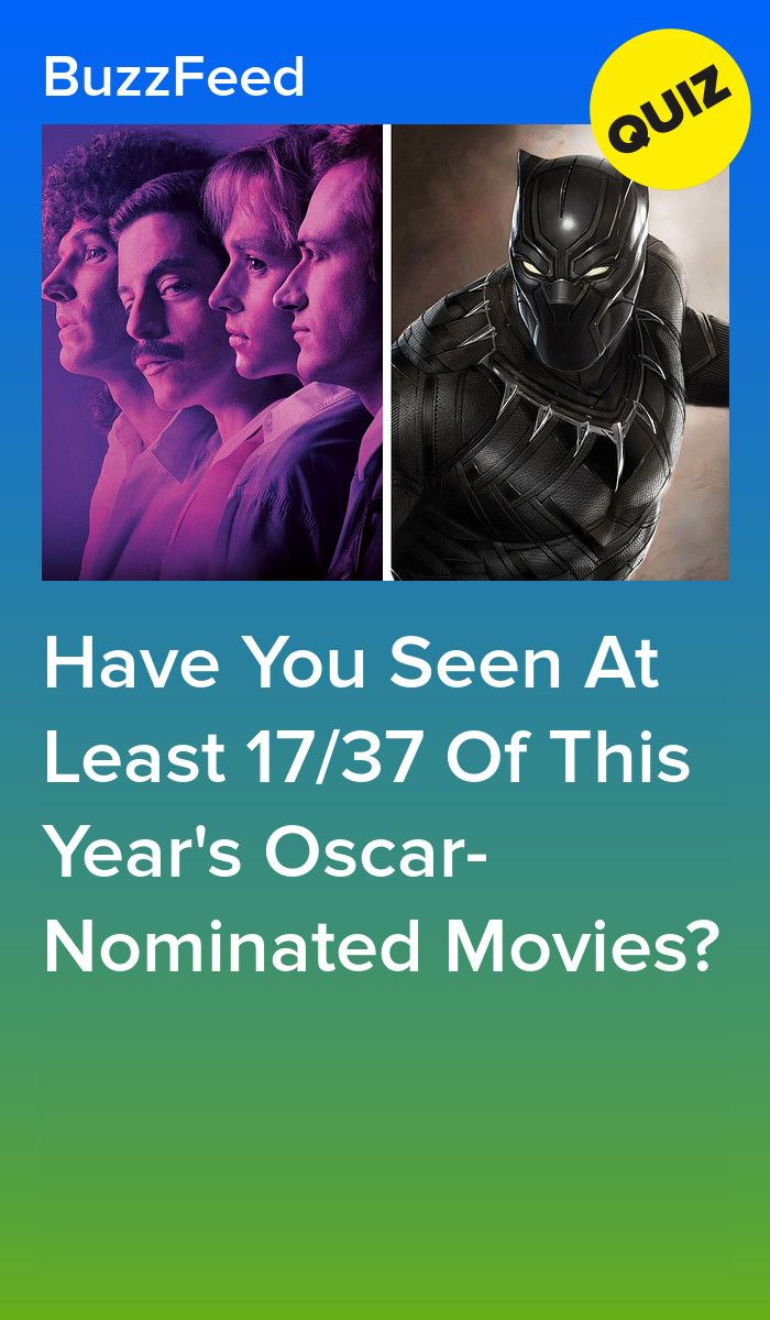 Have You Seen At Least 17/37 Of This Year's Oscar-Nominated Movies?