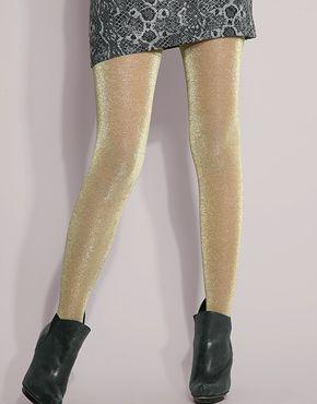 Gold shimmer pantyhose