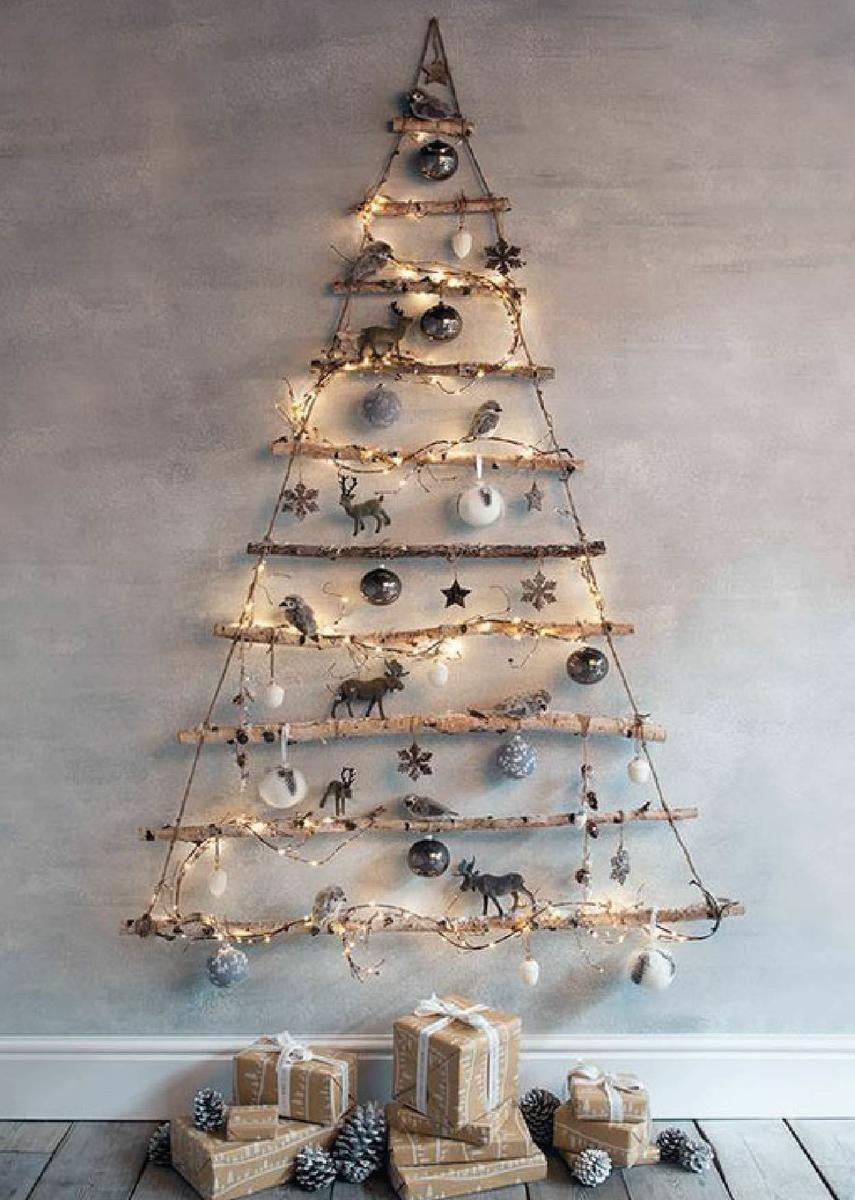 rboles de navidad de madera que vas a querer tener en casa - Arbol De Navidad De Madera