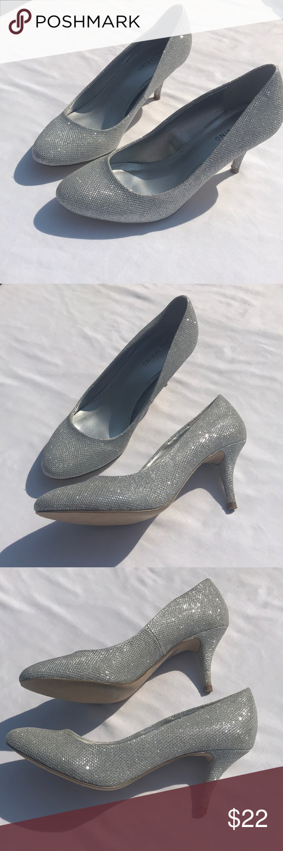 04a676aaca986 Call it Spring Heel 8 Sparkle Silver Gray Close Thank you for your interest  in this listing! This is a pair of women s shoes Brand  Call it Spring  Size  8 ...
