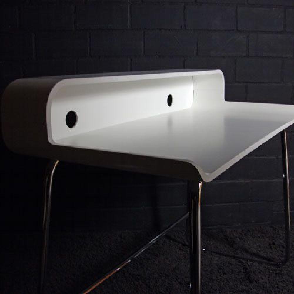 kaufen retro design schreibtisch laptop tisch white weiss 105cm neu ovp schreibtische. Black Bedroom Furniture Sets. Home Design Ideas