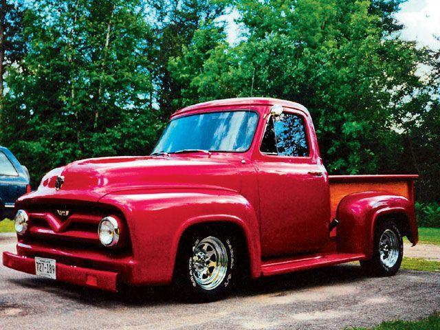 55 Ford F100 Classic Cars Trucks Old Pickup Trucks Classic Pickup Trucks