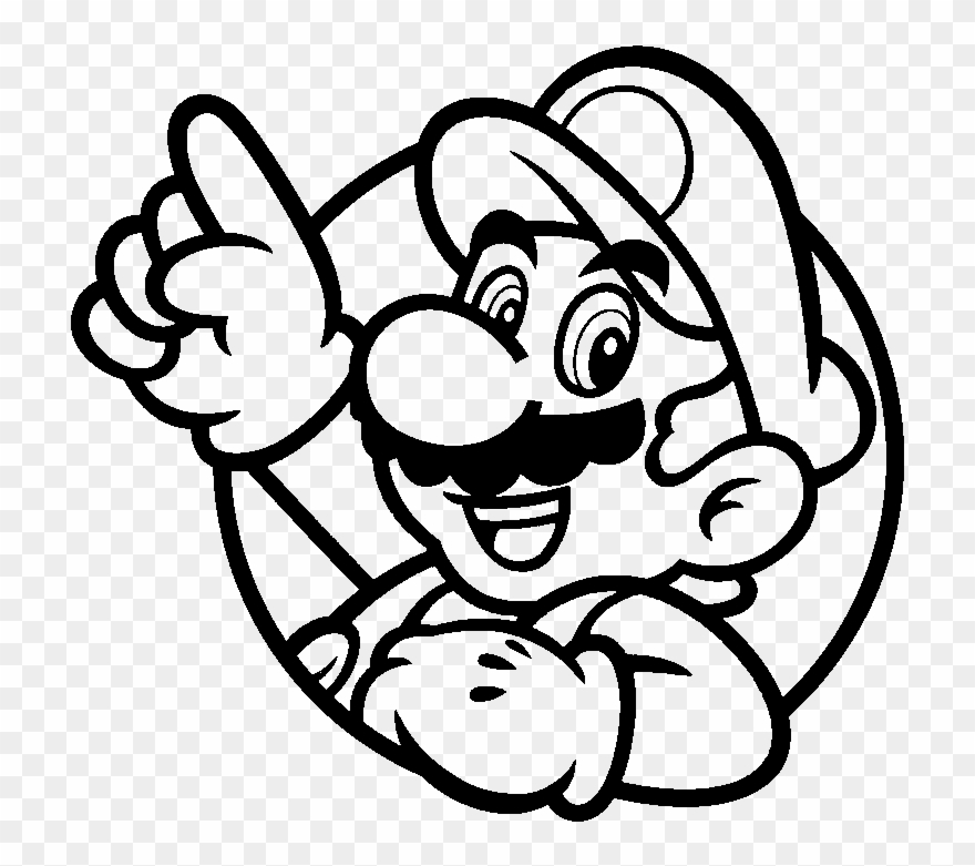 Free Mario Bros Cliparts Download Free Clip Art Free Super Mario Black And White Png Download In 2021 Free Clip Art Super Mario Coloring Pages Mario Coloring Pages