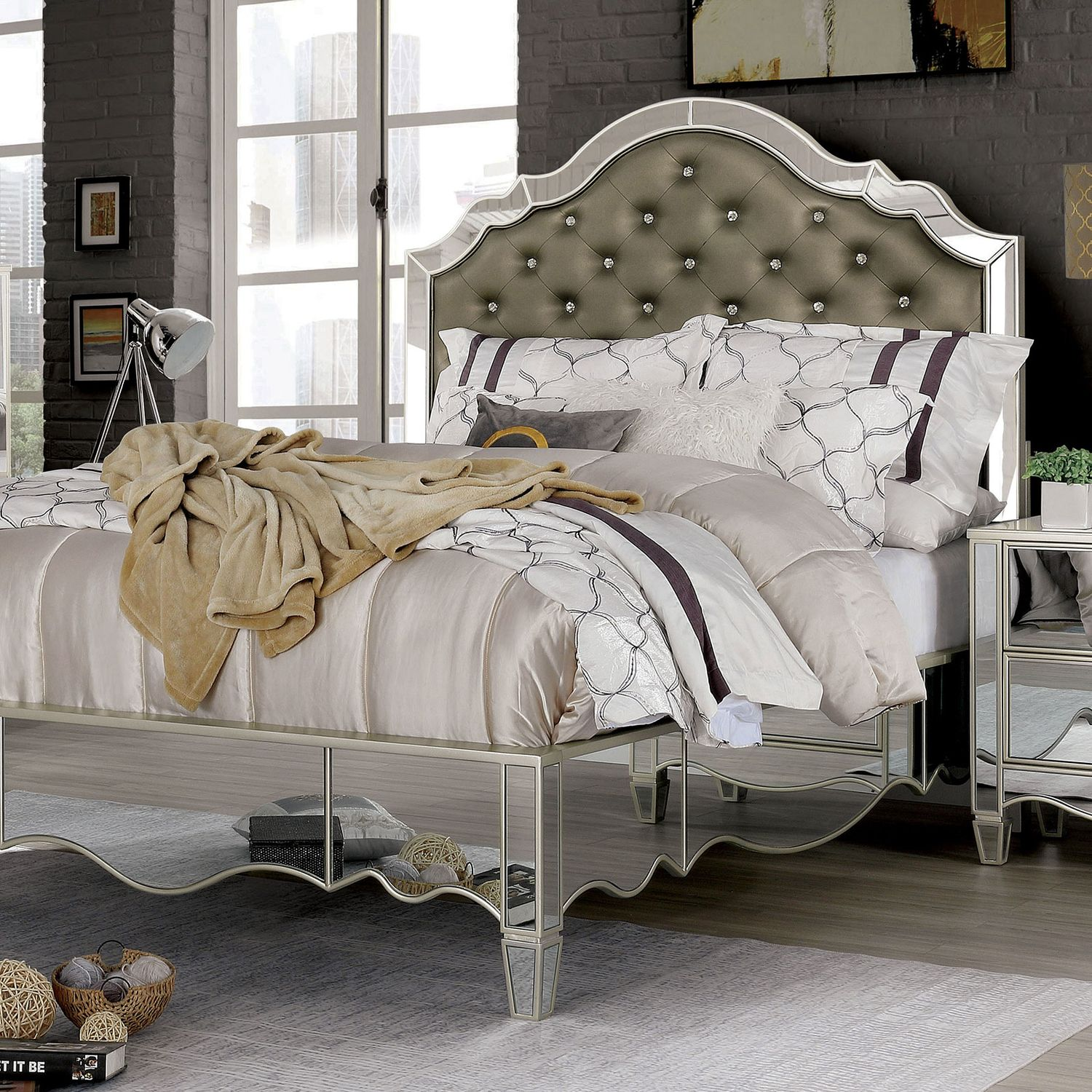 Eliora Queen Size Bed In 2020 King Size Bed Furniture Of America