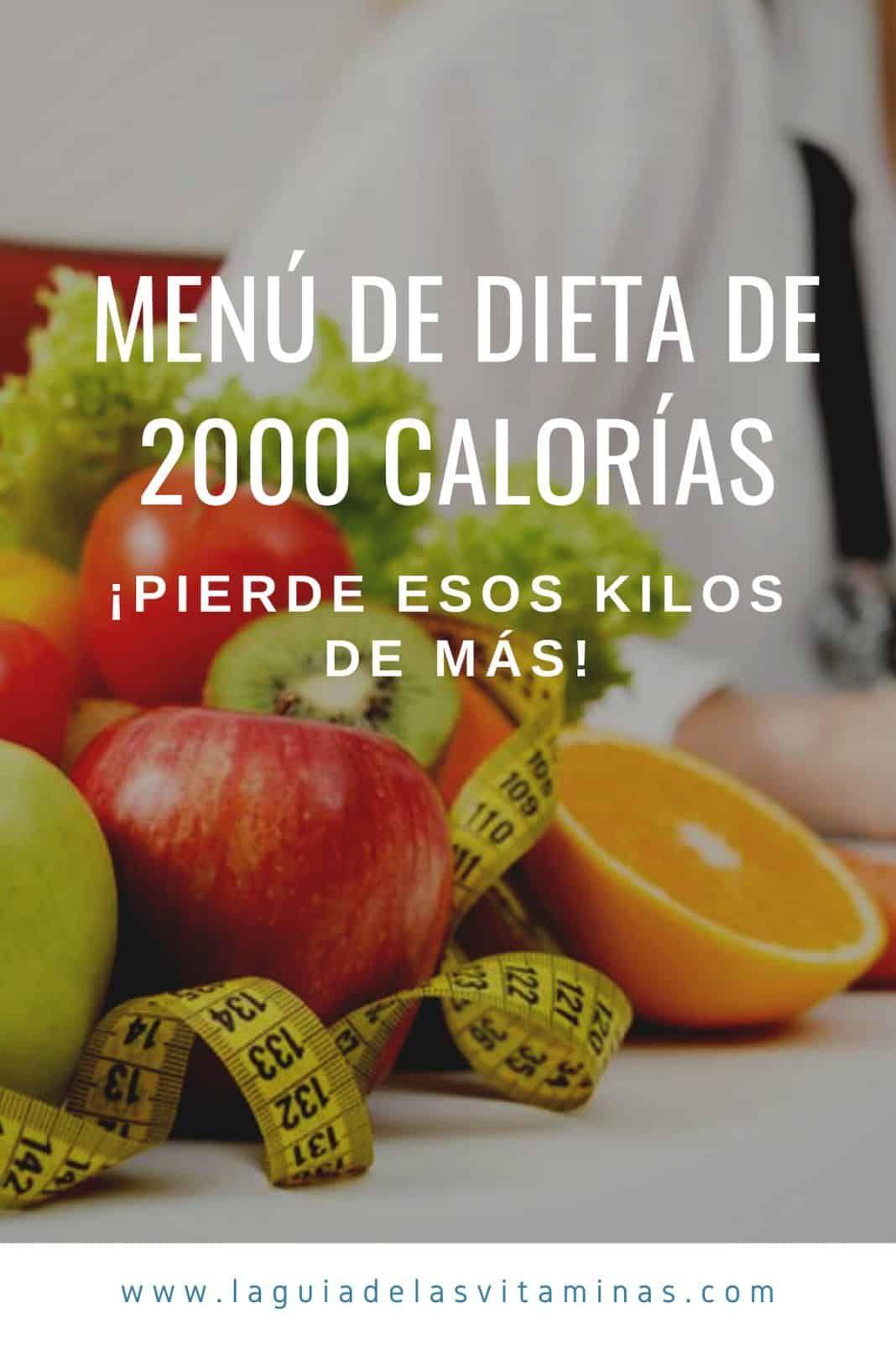 Dieta equilibrada de 2000 calorias