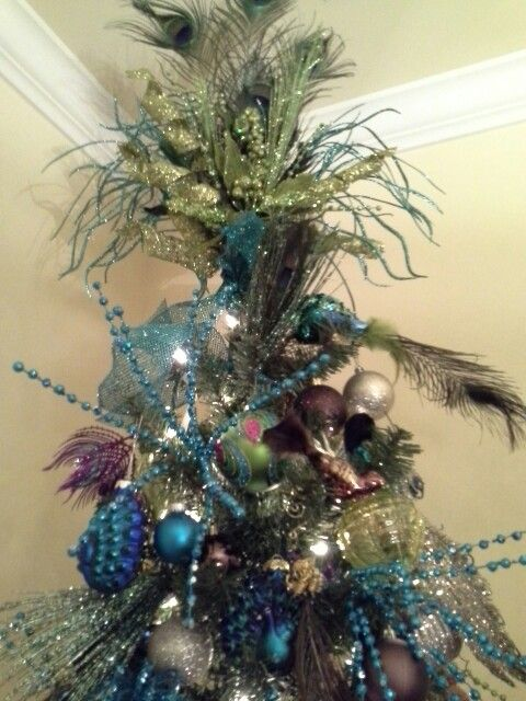 Peacock inspired tree something different Pinterest Peacocks