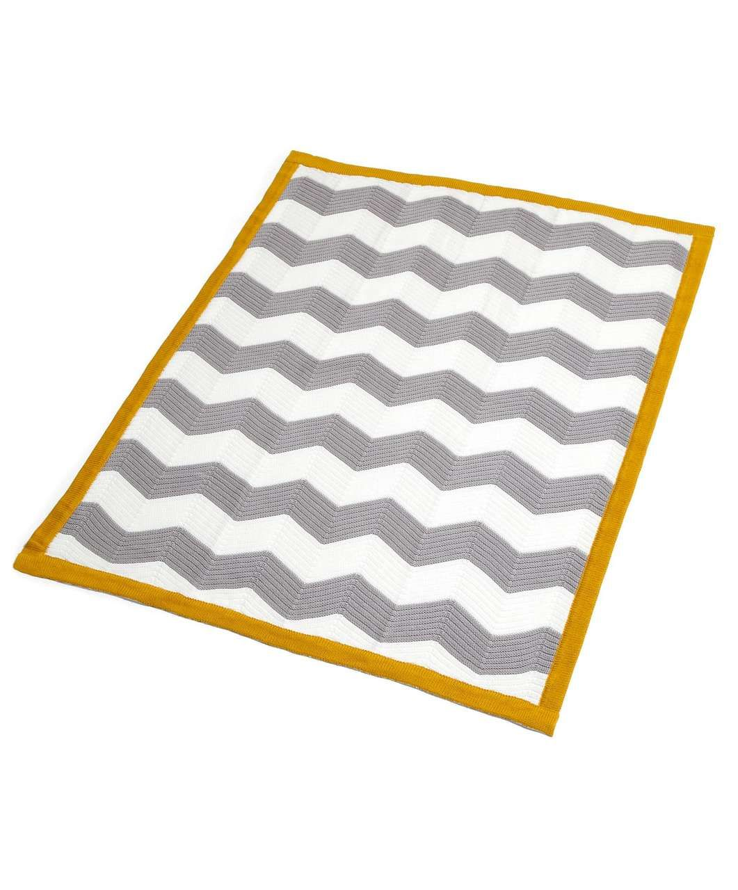 Patternology - Chevron Knitted Blanket - 70 x 90cm - Patternology - Mamas & Papas