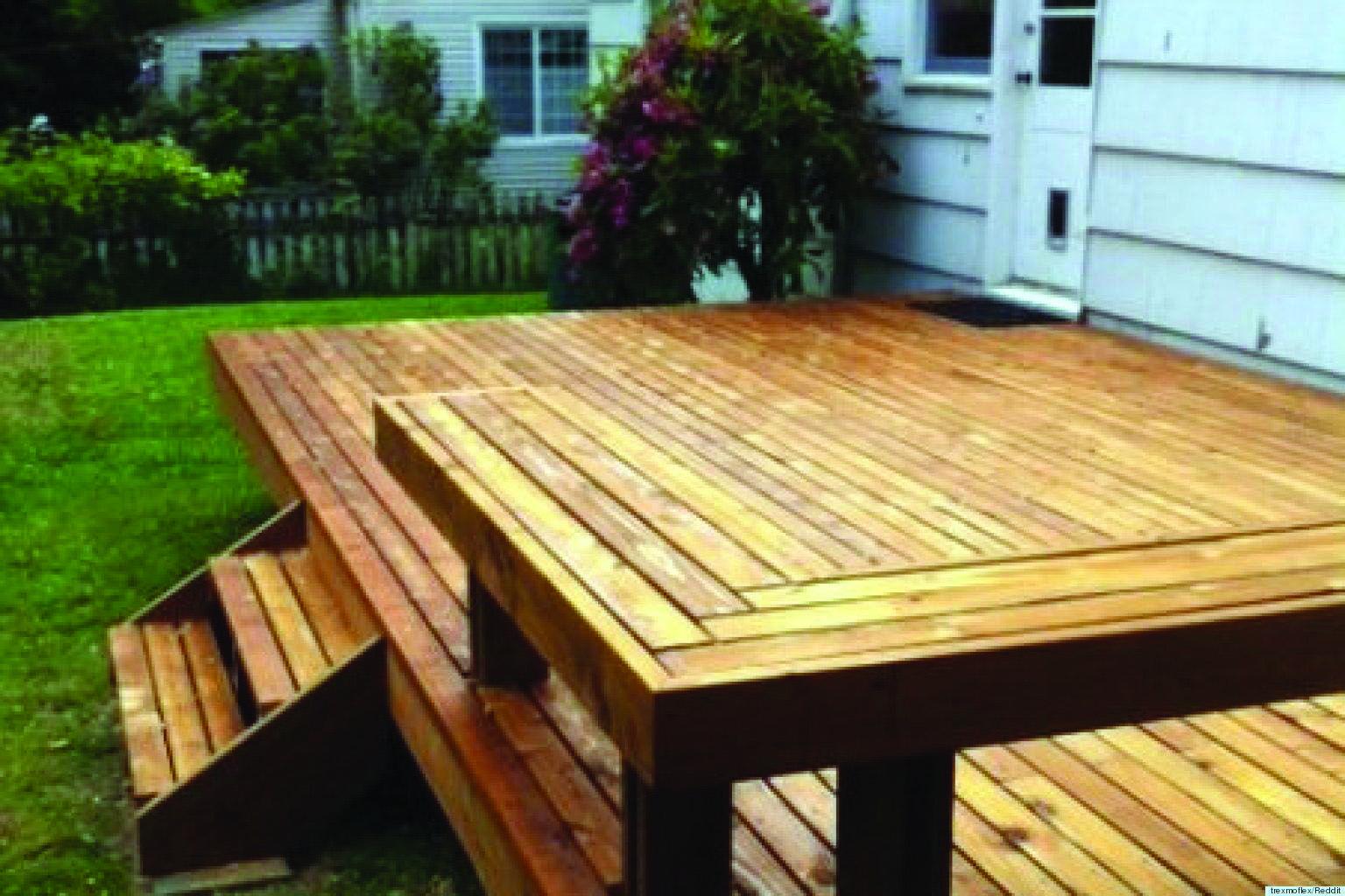 10 Beautiful Easy Diy Backyard Decks Homes Tre Diy Deck Building A Deck Decks Backyard