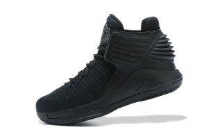 lowest price fcf94 0009d Mens Nike Air Jordan XXXII 32 Triple Black Boy Basketball Shoes