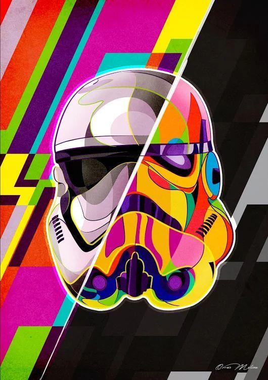 Stormtrooper Art By Omar Molina Star Wars Paintings Star Wars Paintings Ideas Starwars Starwarspainting Star Wars Art Star Wars Wallpaper Pop Art Design