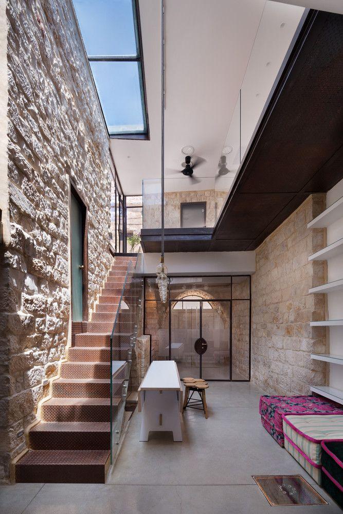 Galeria   Casa Vertical De Pedra / HENKIN SHAVIT Architecture U0026 Design   1