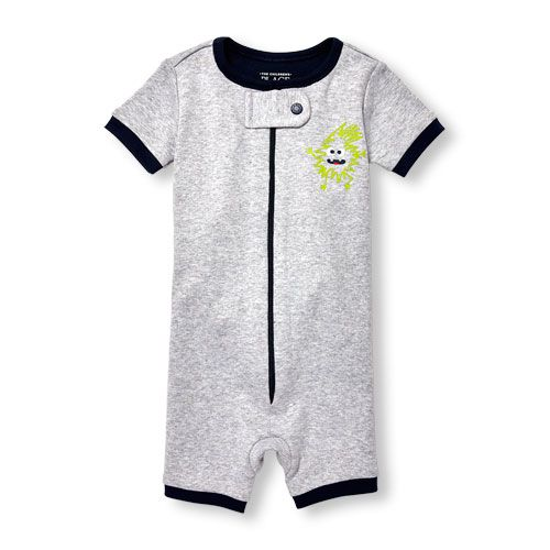 022e2ec6d66c Baby And Toddler Boys Short Sleeve Glow-In-The-Dark  Trouble Maker  Cropped  Stretchie