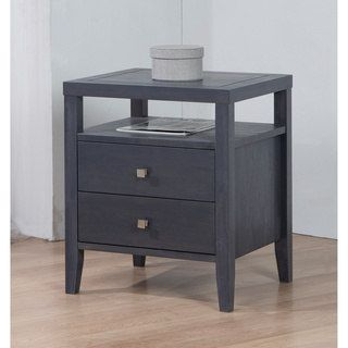3232a04b2b7 Shop for Aristo Dark Grey 2 Drawer Nightstand. Get free shipping at  Overstock.com - Your Online Furniture Outlet Store! Get 5% in rewards with  Club O! - ...