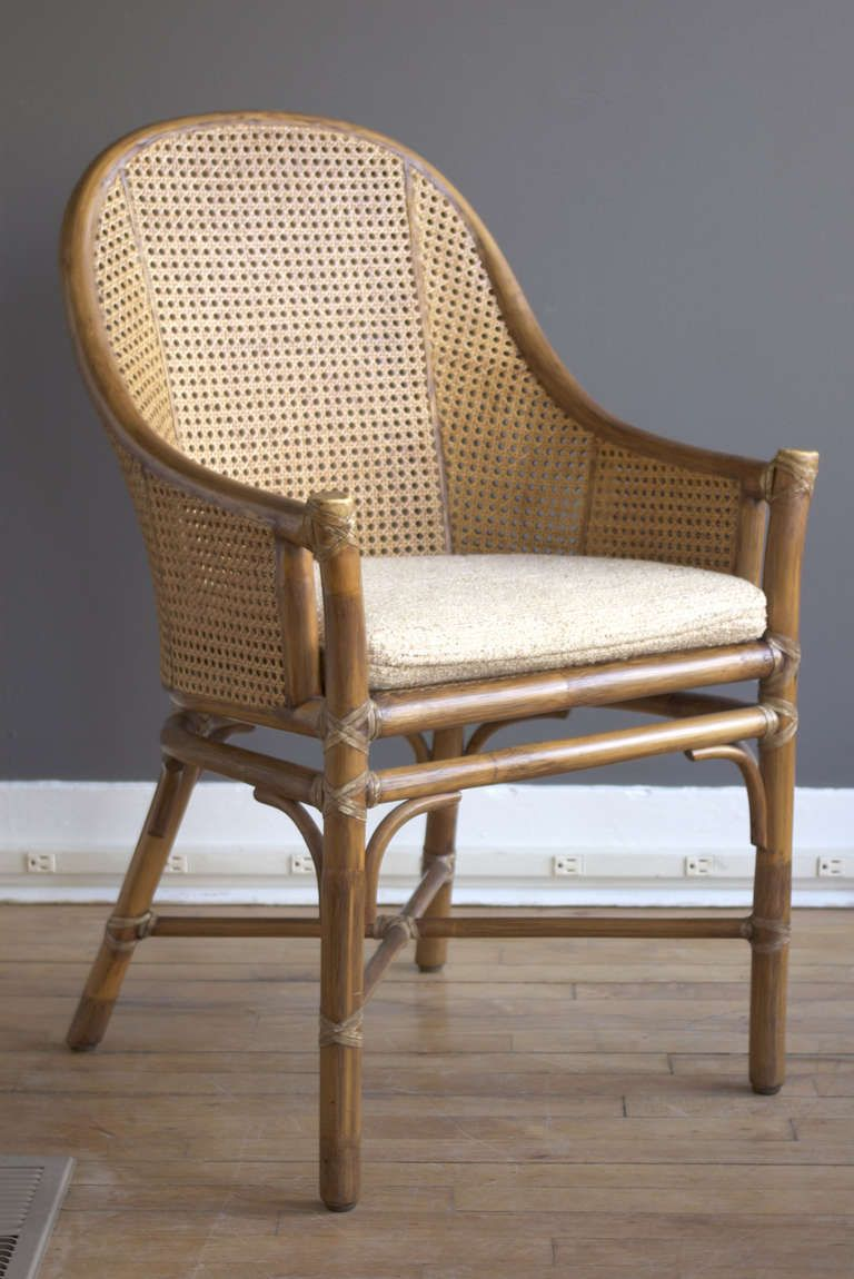 Set Of Six Rattan U0026 Cane Dining Chairs By McGuire | From A Unique Collection  Of Antique And Modern Armchairs At ...