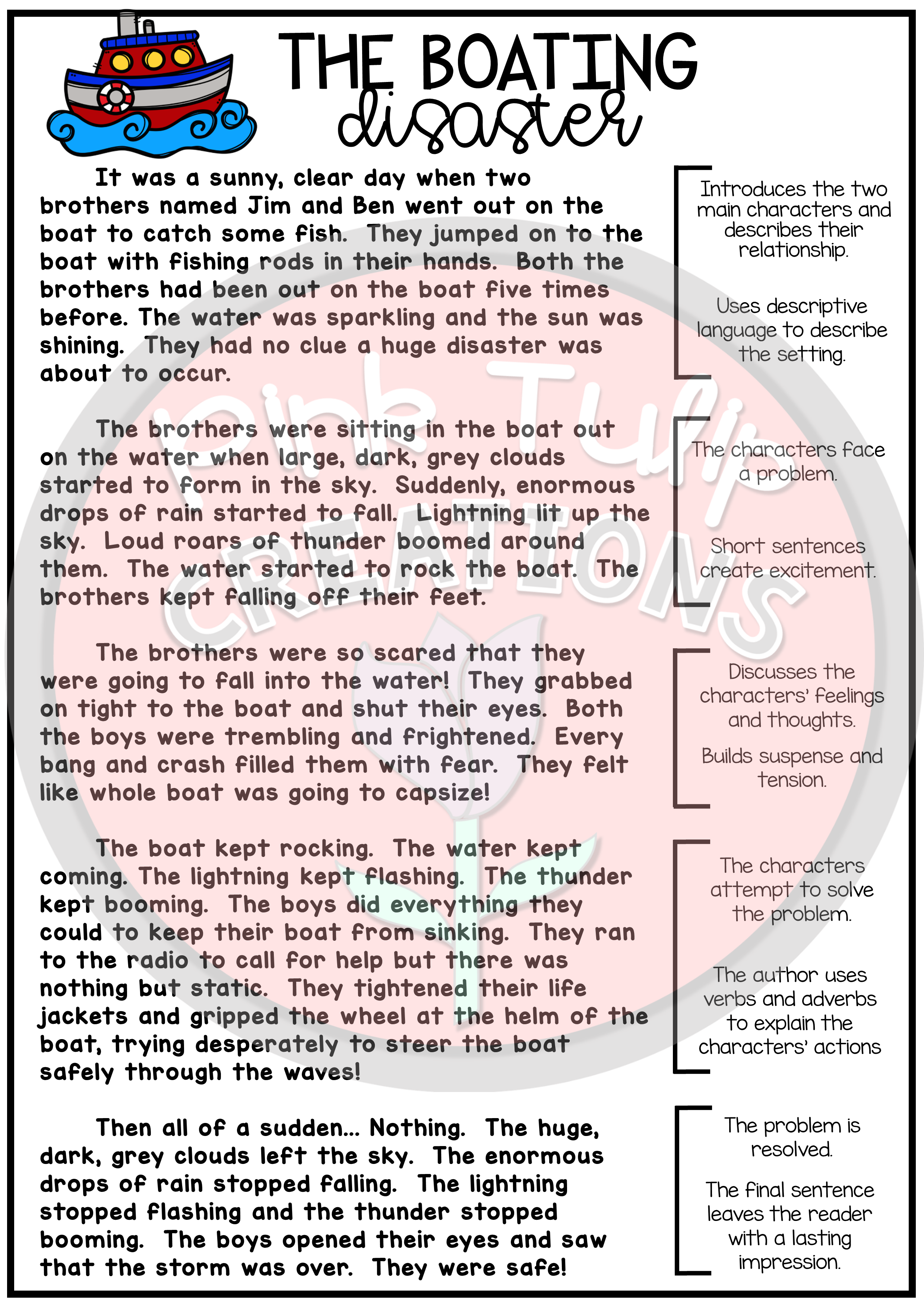 This No Prep Printable Narrative Writing Pack Includes A