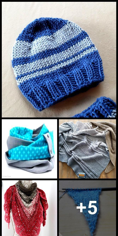 Photo of Knit triangle scarf – free DIY instructions – Talu.de  Knit Triangular Scarf –…