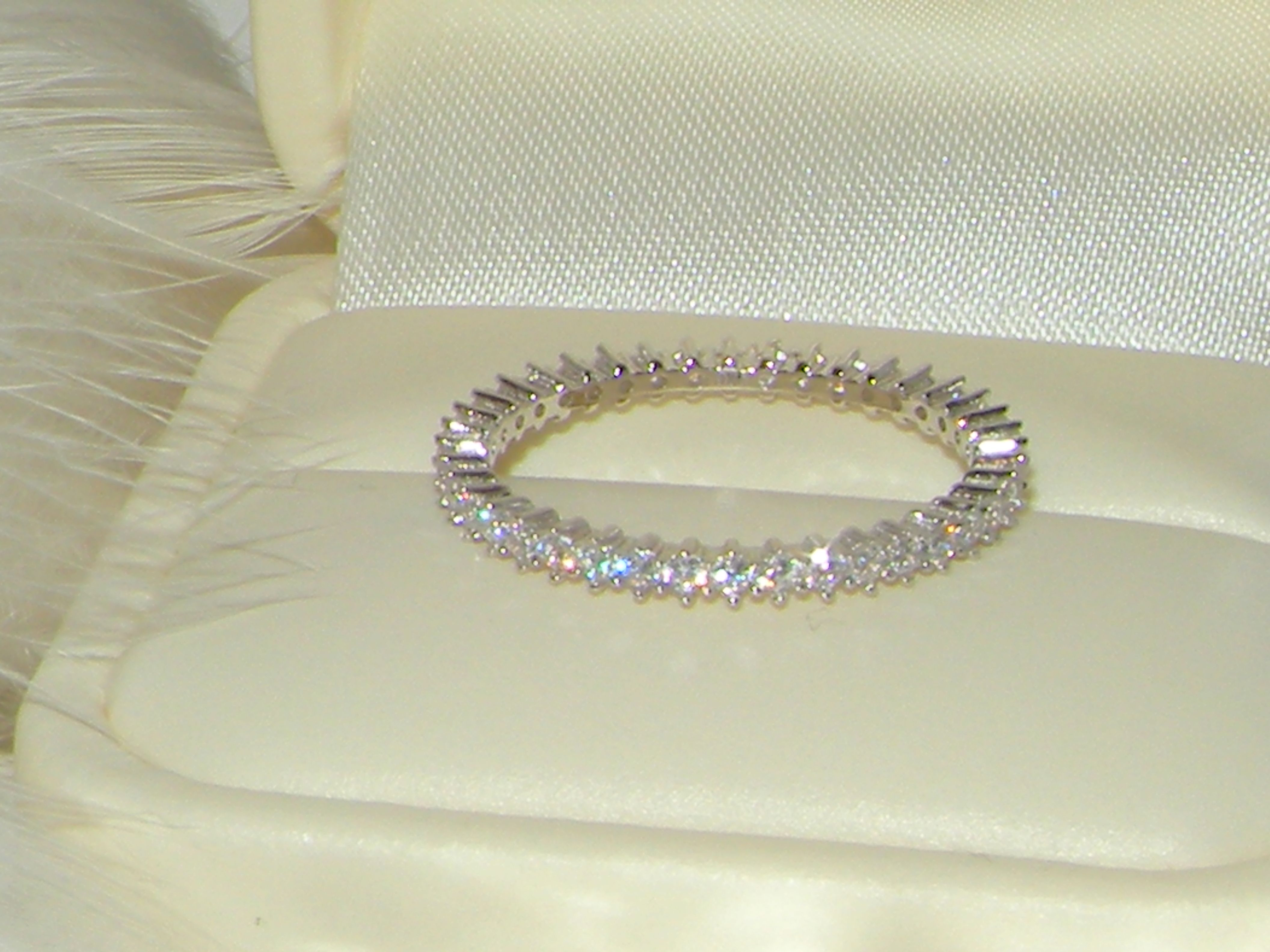 Price : $16 #Sterling Silver Ring #Eternity Band#Silver Fashion ...
