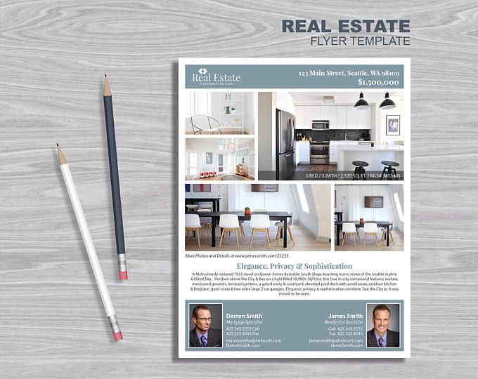 15 Real Estate Flyer Template PowerPoint Publisher and InDesign – Powerpoint Flyer Template