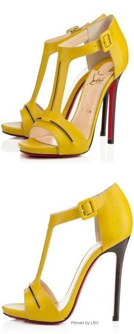 Christian Louboutin Plataformas amarillo