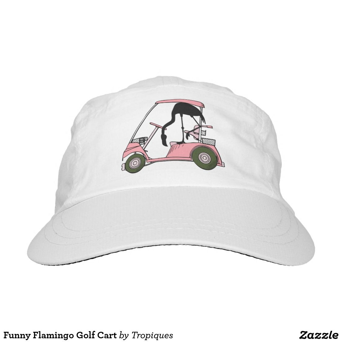 Funny Flamingo Golf Cart baseball cap Headsweats Hat 9a4773c4fc6