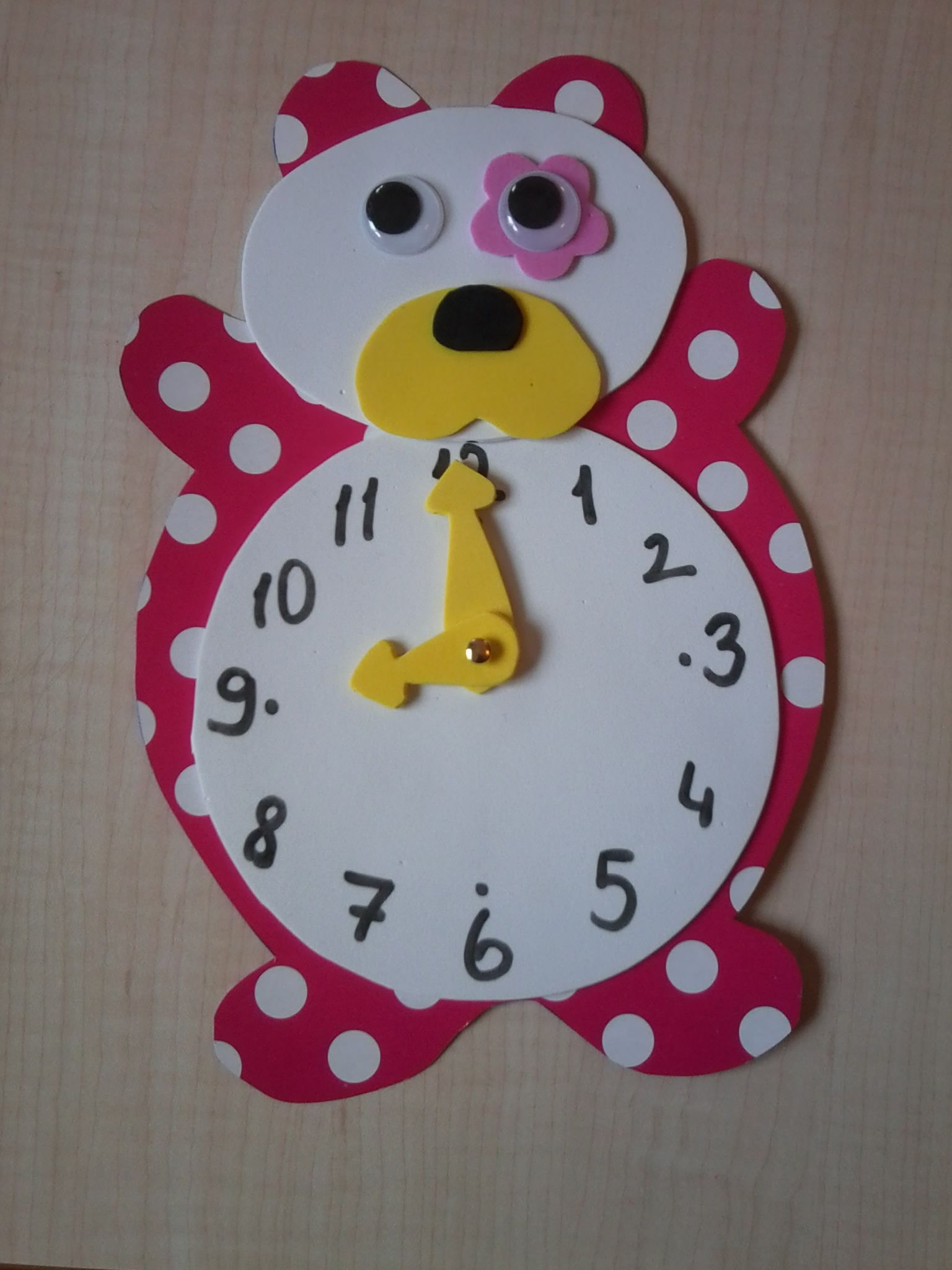 Bear Clock Craft Idea 1