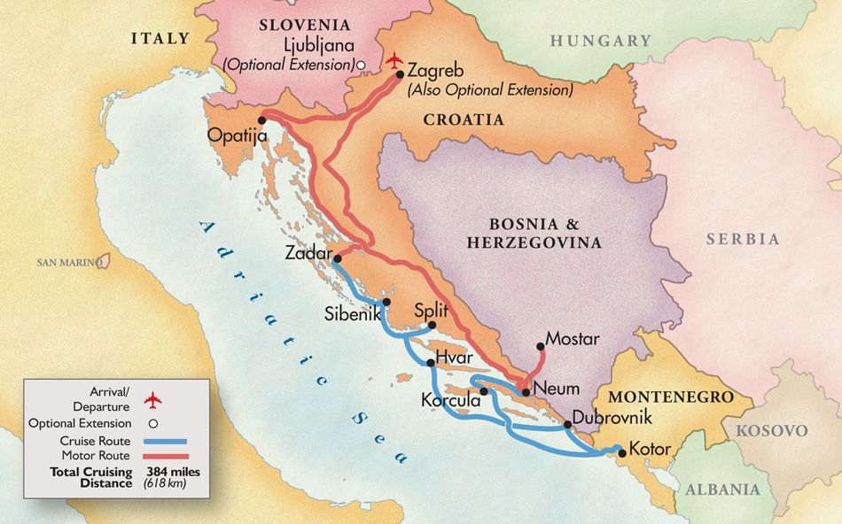 Adriatic Cruise Croatia Montenegro Bosnia Herzegovina Grand - Small ship cruises for dalmatian coast