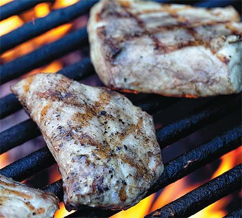 At Daniell's suggestion: grilled drum fish. Local from Rouses in the FQ.