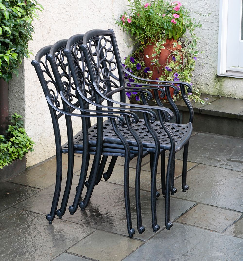 Alfresco Home - Mariposa Cast Aluminum Stackable Dining
