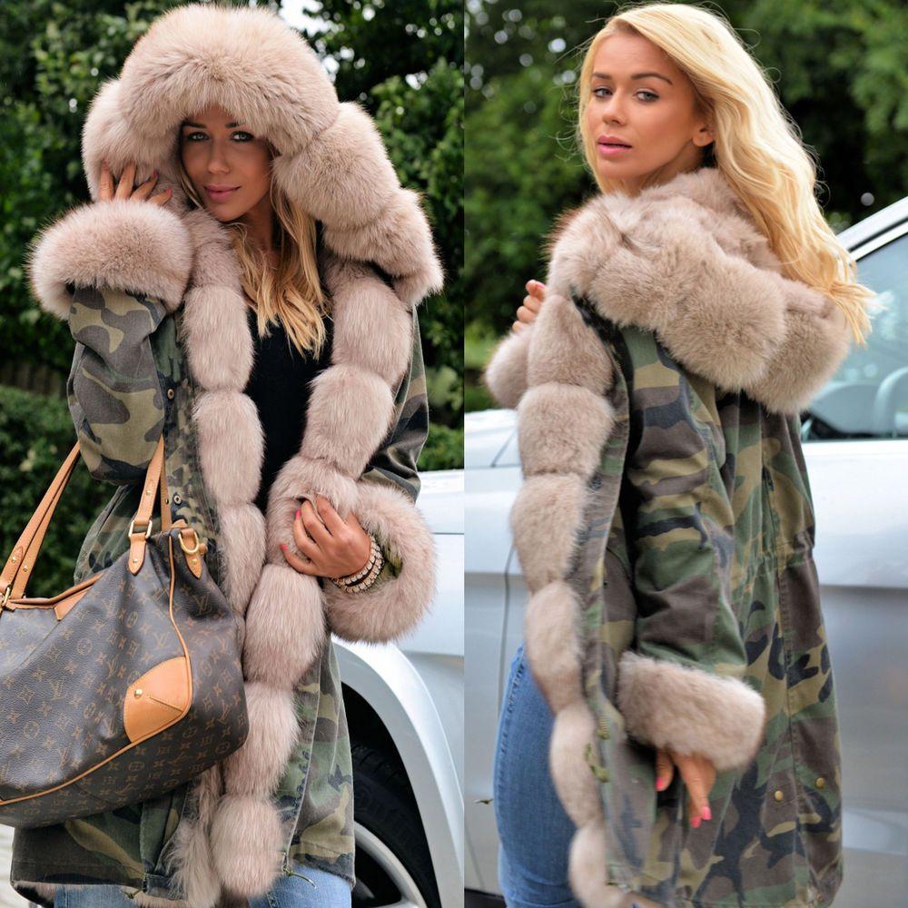 aa8faef249e7 Women Camo Faux Fur Outdoor Winter Warm Jacket Coat Oversize Hooded  Greatcoat #fashion #clothing #shoes #accessories #womensclothing  #coatsjacketsvests ...