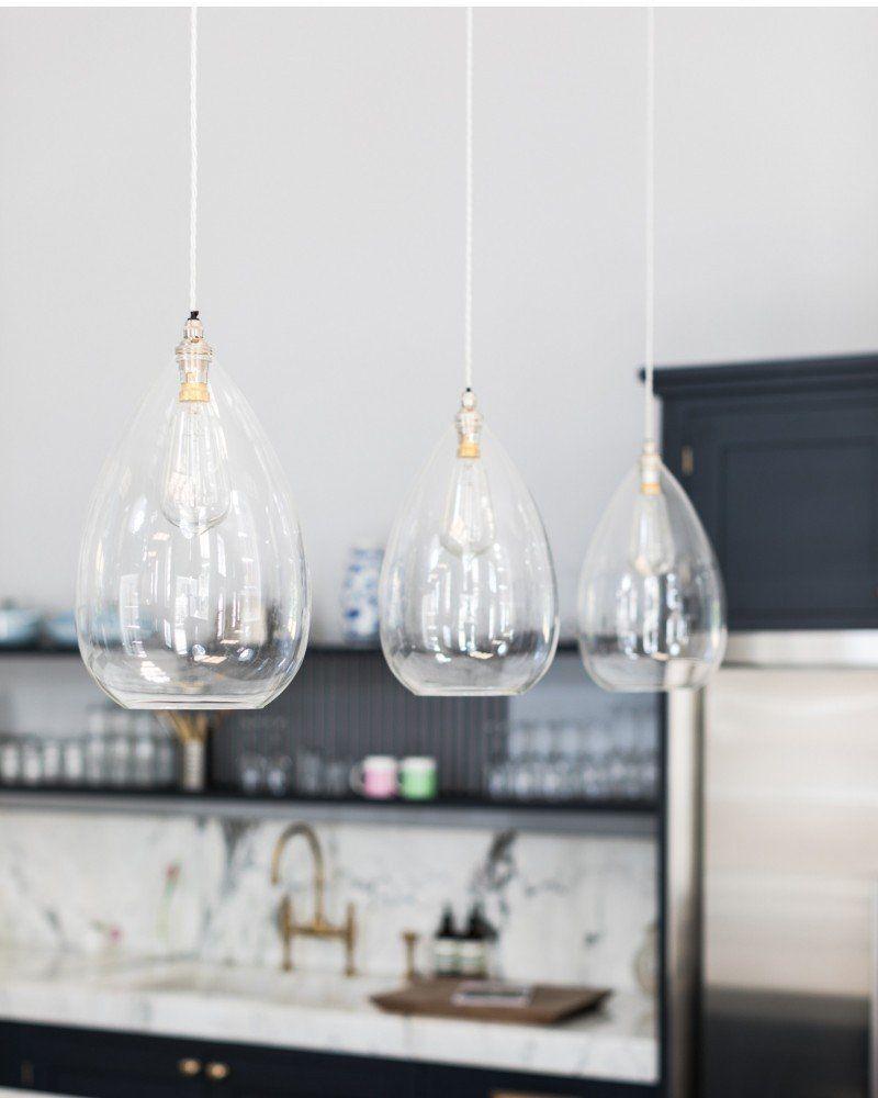 wellington clear glass pendant light | lighting | clear glass