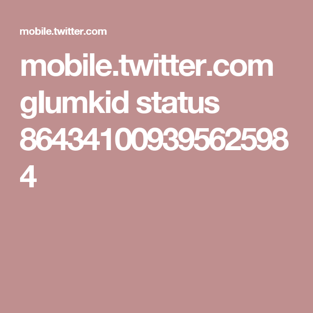 mobile.twitter.com gIumkid status 864341009395625984
