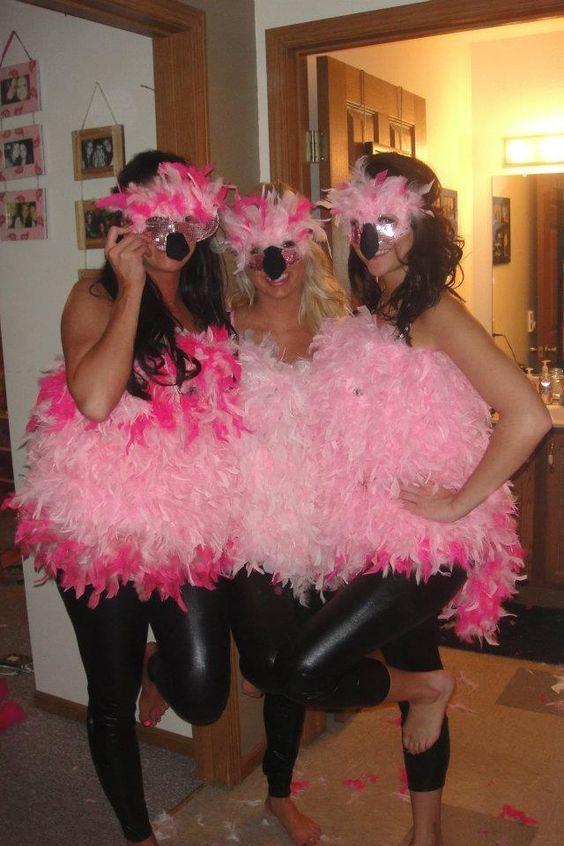flamingo kost m selber machen einfache diy ideen kost m ideen pinterest. Black Bedroom Furniture Sets. Home Design Ideas