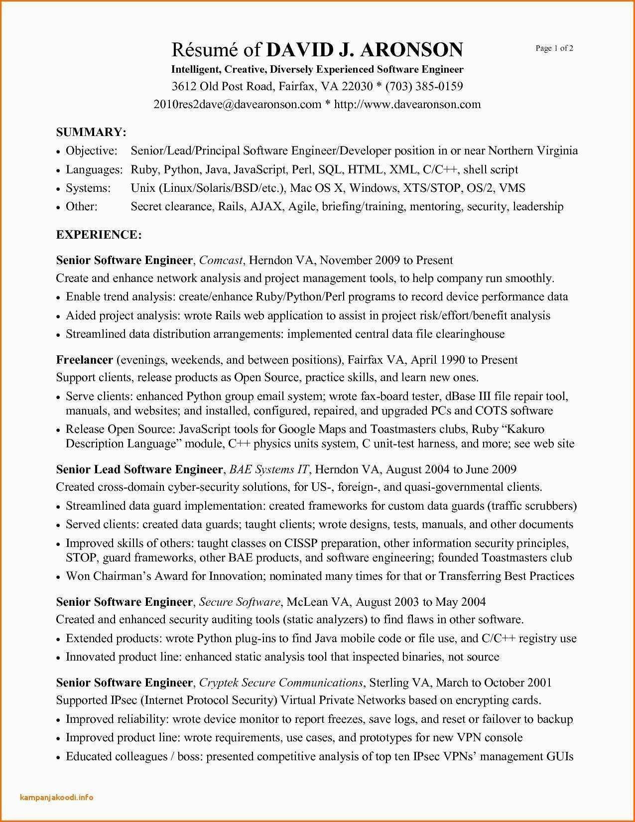 Web Developer Resume Sample Java Resume Sample Professional Subway Resume Valid Java Resume Template Examples Cover Letter For Resume Resume