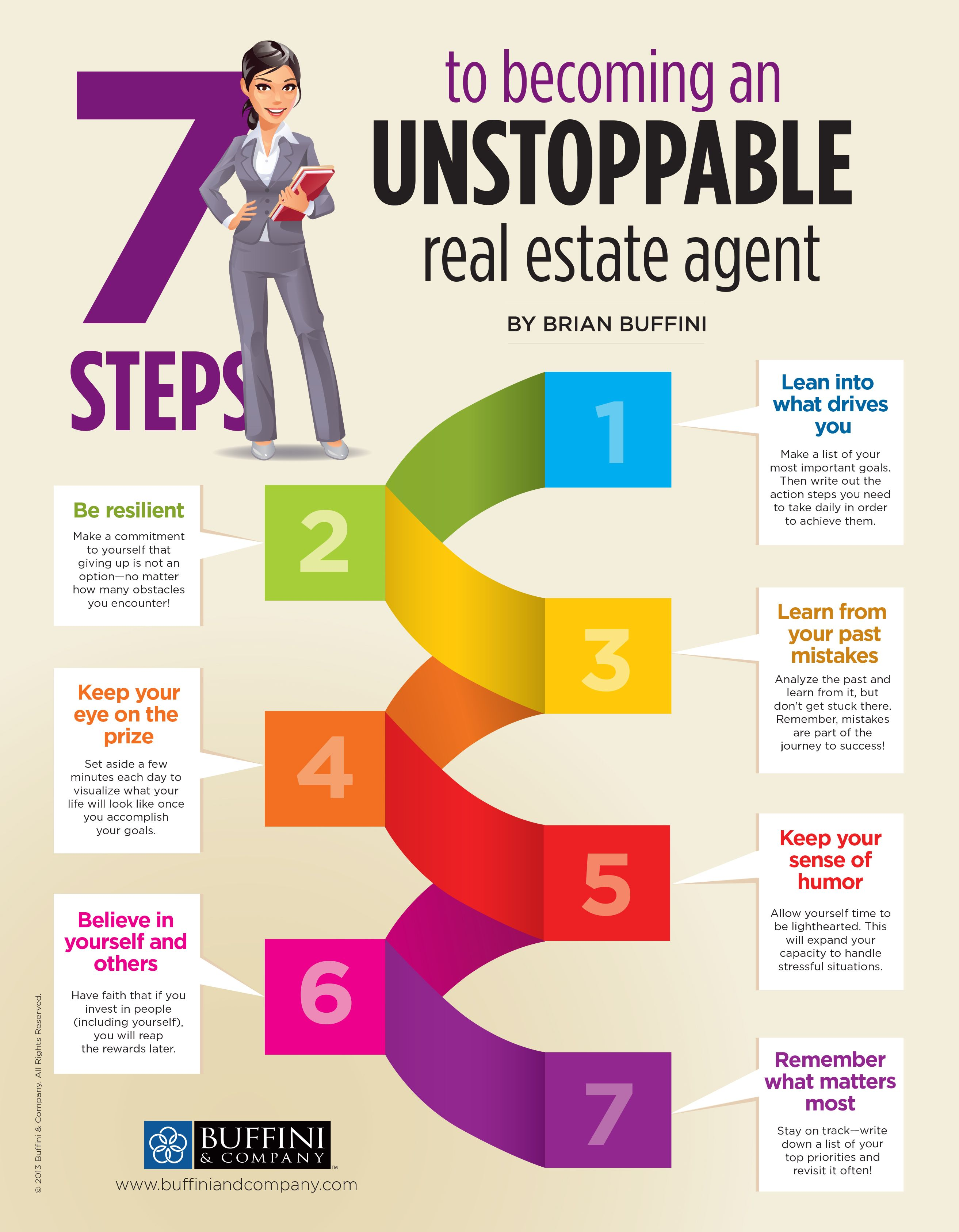 Brian Buffini's 7 Steps to Becoming an Unstoppable Agent!... Some powerful tips to help you get ...