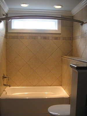Small Window Over Tub Shower