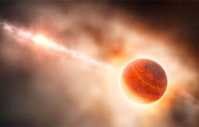 El nacimiento de un planeta gigante